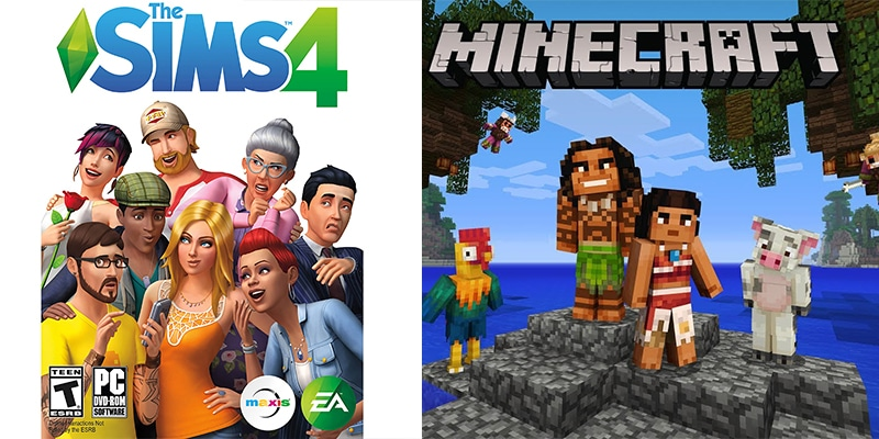 The Sims, Minecraft